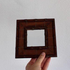 Vintage | bamboo mirror
